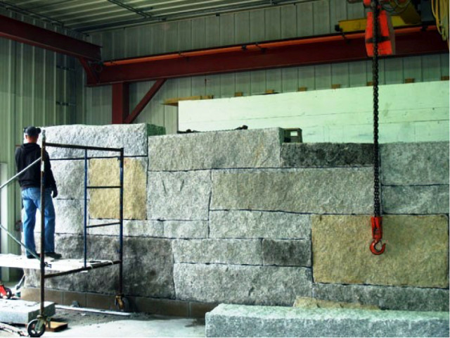 If it is beautiful, and made of stone, Freshwater Stone can probably build it. They will often assemble a structure in their shop before shipping it out for assembly on site. Designer John Horton uses Solid Edge to help ensure that the design matches the client's vision while meeting architectural requirements. (Image courtesy of Freshwater Stone.)