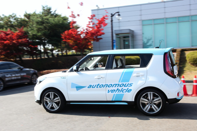 The Kia autonomous Soul EV. (Image courtesy of Kia Motors.)