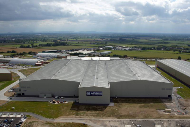 Aerial view of Airbus' A350 XWB wing factory, Broughton, Wales-UK. (Image courtesy of Airbus UK.)