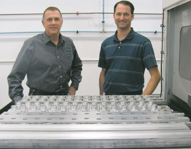 Radny Cameron (left), director, technical services, manufacturing for INOVA Geophysical Equipment and Tom Mueller, former machine shop supervisor for INOVA. (IMAGE courtesy INOVA Geophysical Equipment.)