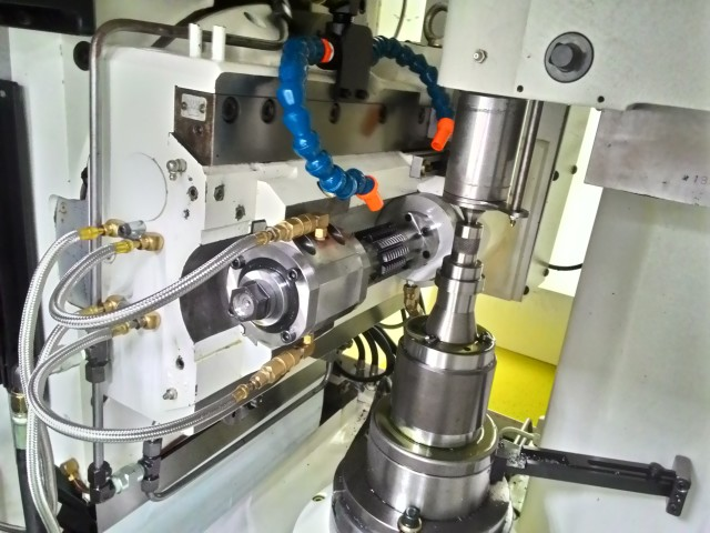 The gear hobbing machine's spindle is driven by a NUMDrive X servo drive and brushless motor. (Image courtesy of NUM.)