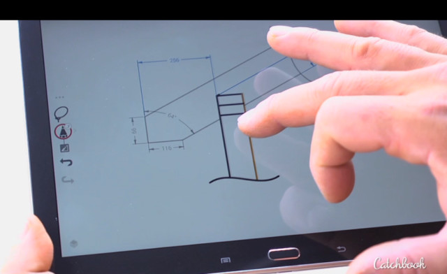 Catchbook lets you dimension and redline (Image courtesy Siemens PLM.)