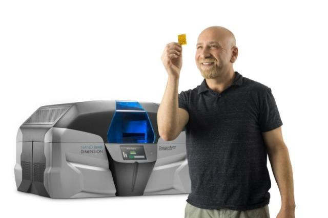 The DragonFly 2020 is Nano Dimension's electronics 3D printing device. (Image courtesy of Nano Dimension.)