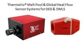 Two of Stratonics' ThermaViz sensor systems. On the left, a ThermaViz Melt Pool Sensor. On the right, a ThermaViz Global Heat Flow Sensor.