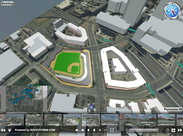 City of Hartford, Conn., plans to modernize an interstate that goes through its downtown and is using RDV Systems to visualize possible plans. (Image courtesy of www.i84hartford.com.)
