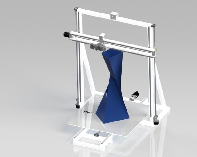 Titan's large 3D printer, The Atlas. (Image courtesy of Titan Robotics.)