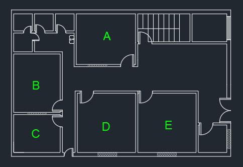 Finding object properties with inquiry commands in autocad for Autocad floor plan samples