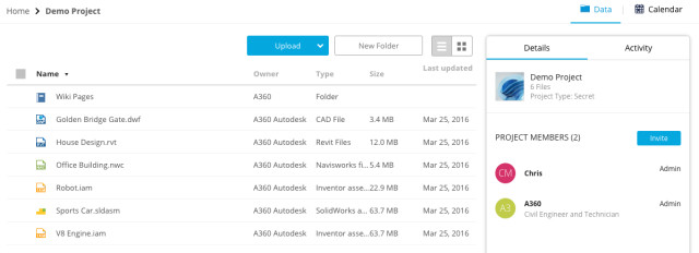 Autodesk's A360 tool managed files for me flawlessly and was more intuitive than other file management systems. It also easily works in the cloud, though editing of files is done locally.