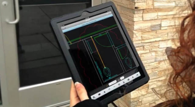 AutoCAD 360 lets you view DWG files, here on an iPad. (Image courtesy of Autodesk.)