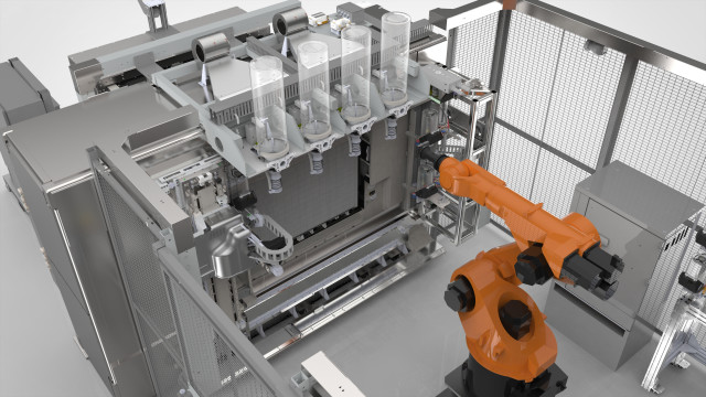 Stratasys manufacturing cell for its