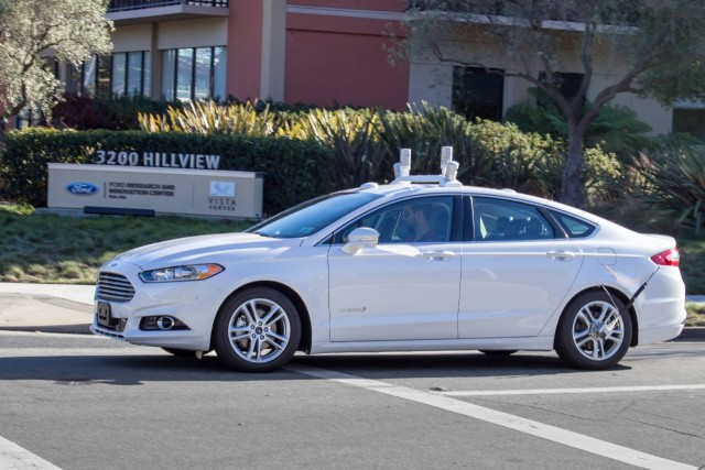 An autonomous Ford Fusion. (Image courtesy of Ford Motor Company.)