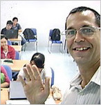 Online English Teacher Fred in IELTS Classroom