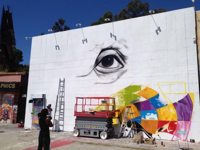 Eduardo Kobra, LA Mural, Einstein, Street Art, Modern Art, Epistrophy, Eye, California