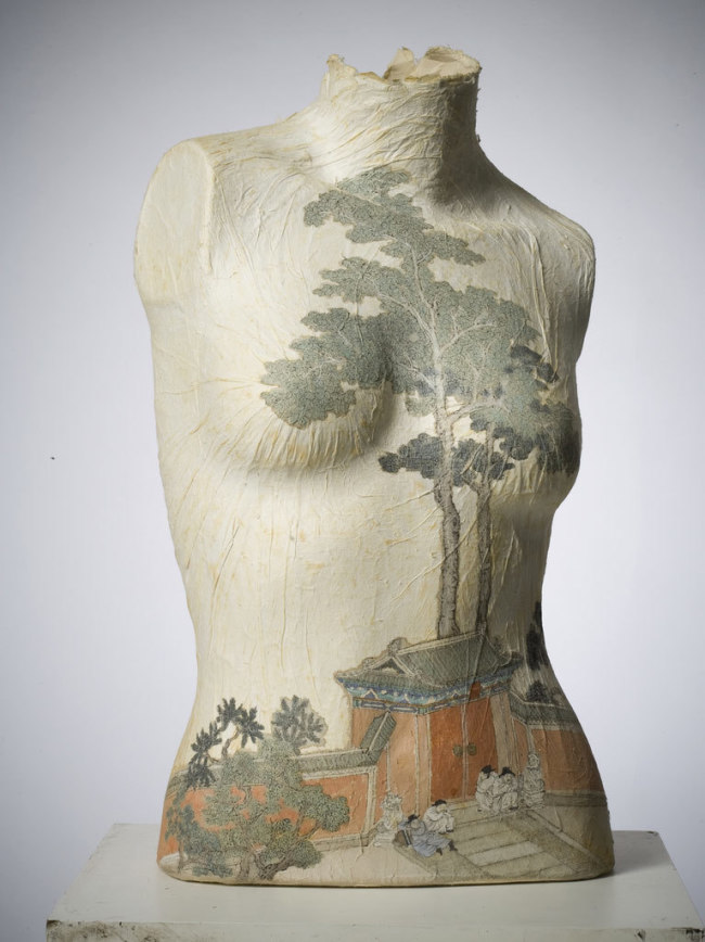 Peng Wei, Body Drawings, Paper Drawings, China, Epistrophy, Torso with Tree