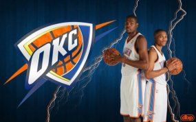 Kevin Durant and Russell Westbrook of the OKC Thunder.