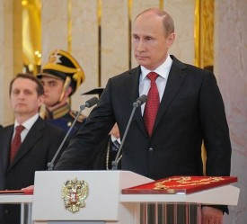 Vladimir Putin at the center of tensions between U.S. and Russia.