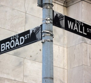 Wall Broad Street Stock Market