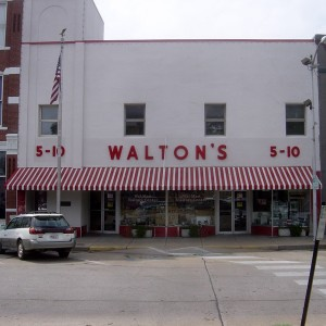 Walmart founder Sam Walton's first store in Bentonville, Arkansas