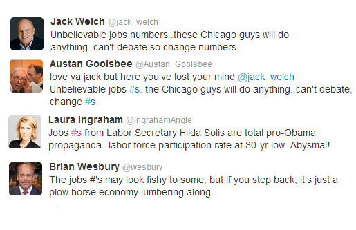 Former GE CEO Jack Welch Calls Out Obama and White House on Unemployment Rate