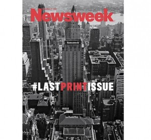 December 31 Issue Marks End of Print Era for Newsweek