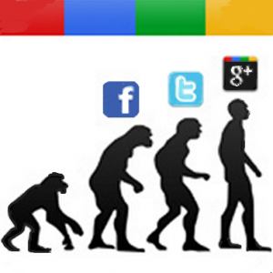 Google plus evolution facebook twitter