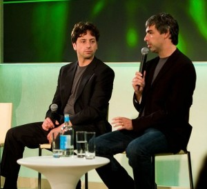 Segrey Brin, Larry Page, Google Co-Founders, goog