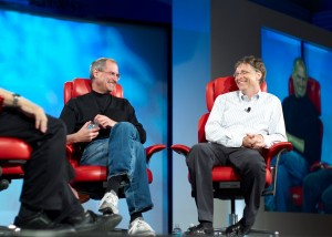 Superstar CEOs Bill Gates Steve Jobs