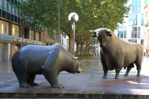 Wall Street bull bear stocks