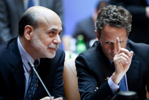 Fed Bernanke Treasury Geithner
