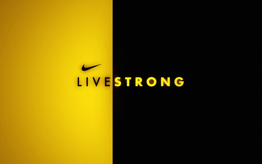 livestrong black and yellow by wall e ps