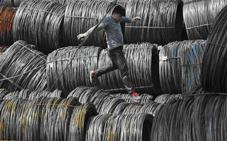 Steel Market Worker In Shenyang Liaoning