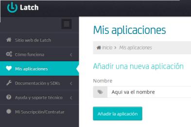Crear app latch