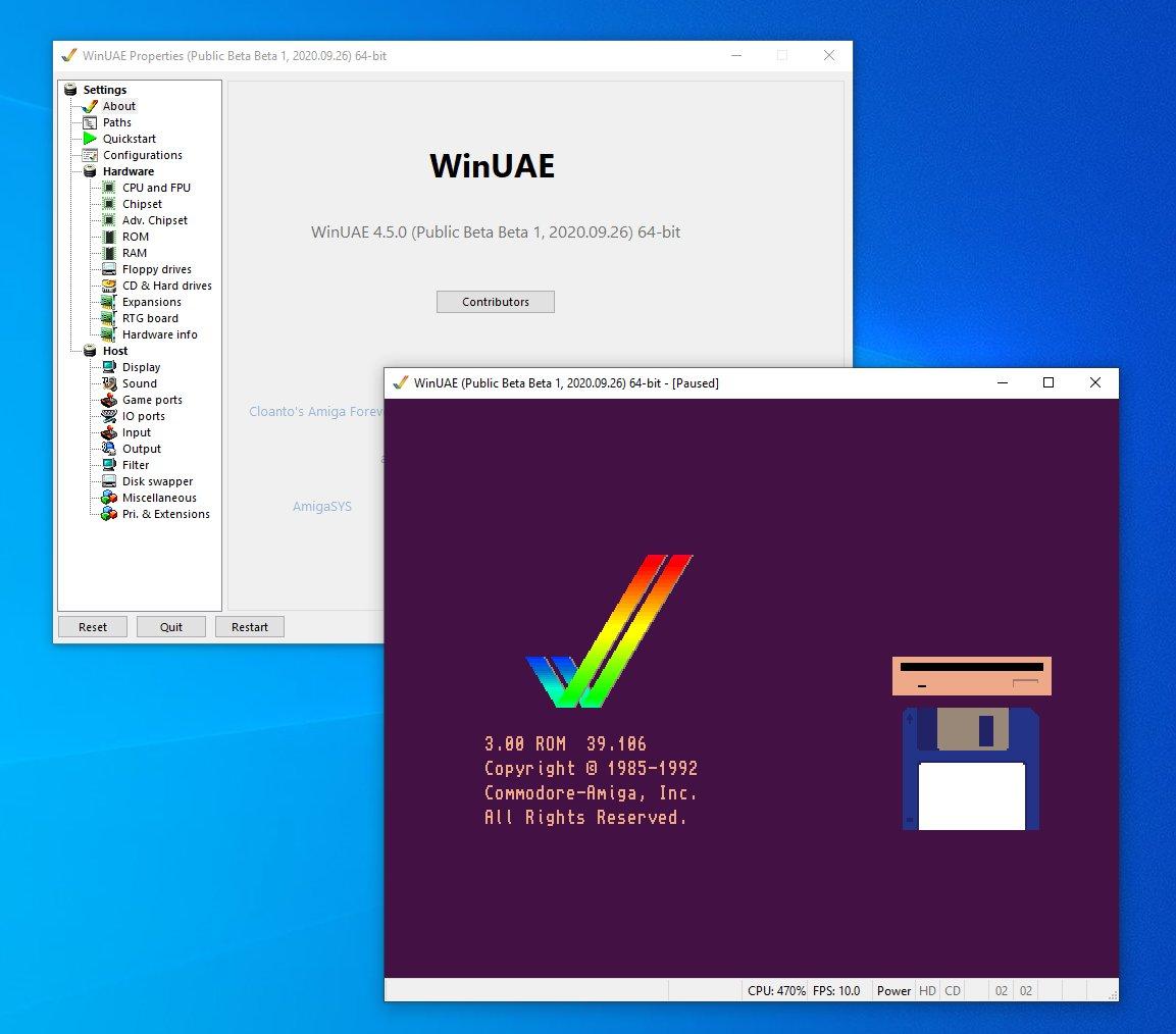 WinUAE 4.5.0 Beta