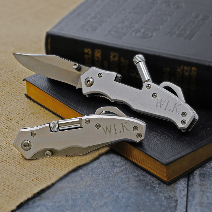 Pocket Knife with Light Exclusively Weddings