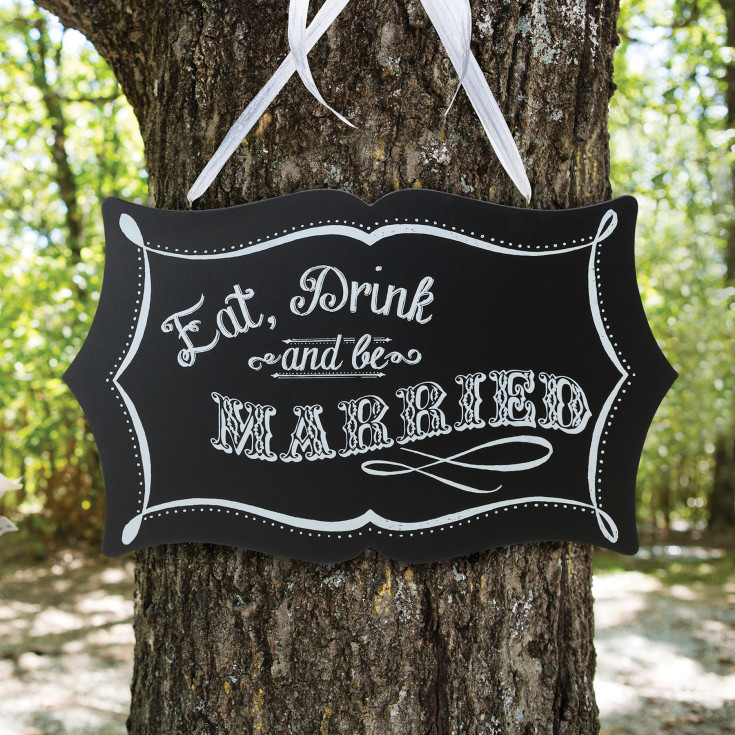 exclusively weddings vintage chalkboard sign for wedding reception