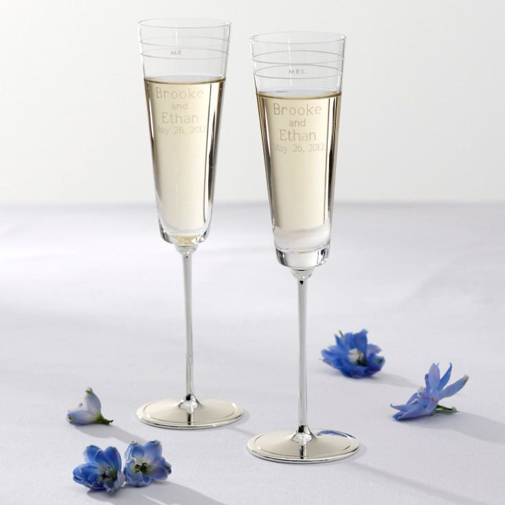 kate spade darling point wedding flutes wedding toasting flutes