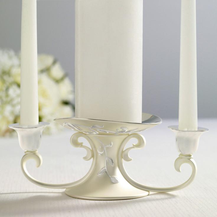 Opal innocence unity candle holder lenox candleholder set
