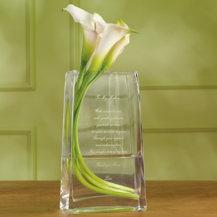 Personalised Vase Wedding Gift : Personalized Sentimentality Vase for Mother of the Bride