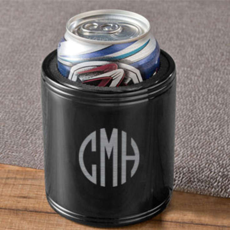 Stainless Steel Can Cooler ~ Exclusively weddings black stainless steel can cooler