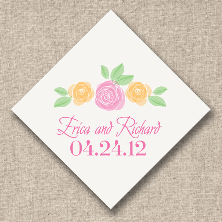 Wedding Favor Tags And Labels : Shakespeare in Love Pink Roses Favor Tags Wedding Favor Tags