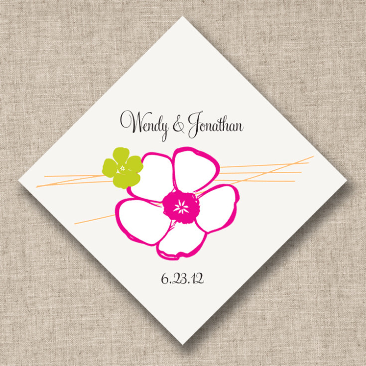 Wedding Favor Tags And Labels : Love Blossoms Personalized Favor Tags Wedding Favor Tags