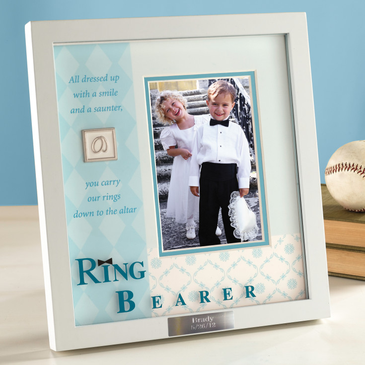 Wedding Gifts For Ring Bearer : Ring Bearer Frame Unique Ring Bearer Shadowbox Frame