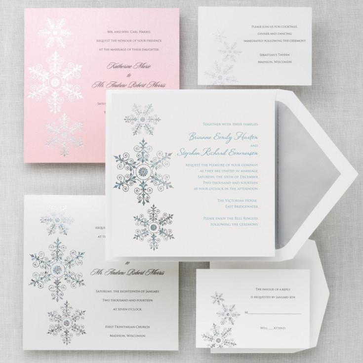 Sparkling Snowflake Wedding Invitation