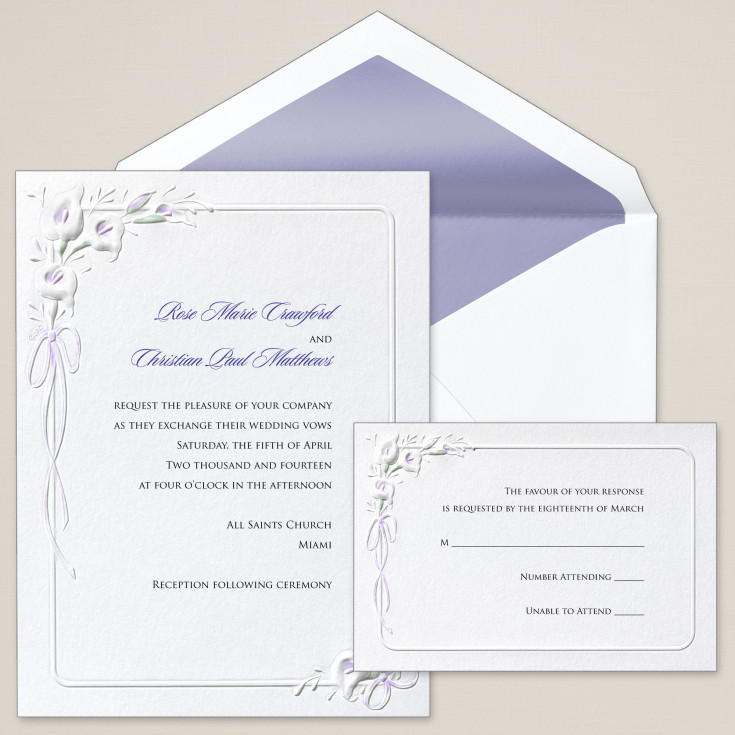 calla lilies wedding invitation - floral wedding invitations, Wedding invitations