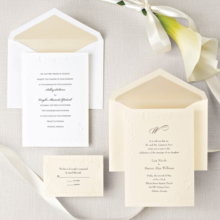 calla lily beauty wedding invitation - floral wedding invitations, Wedding invitations