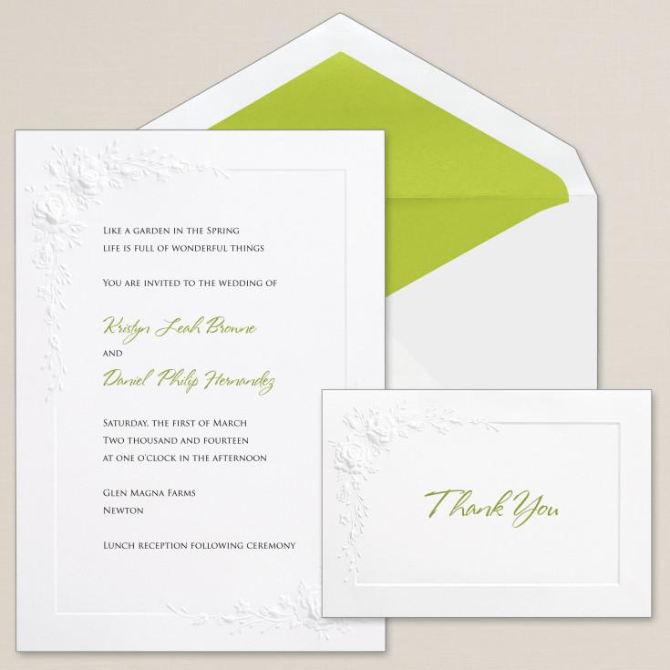 cascading roses wedding invitation floral wedding invitations