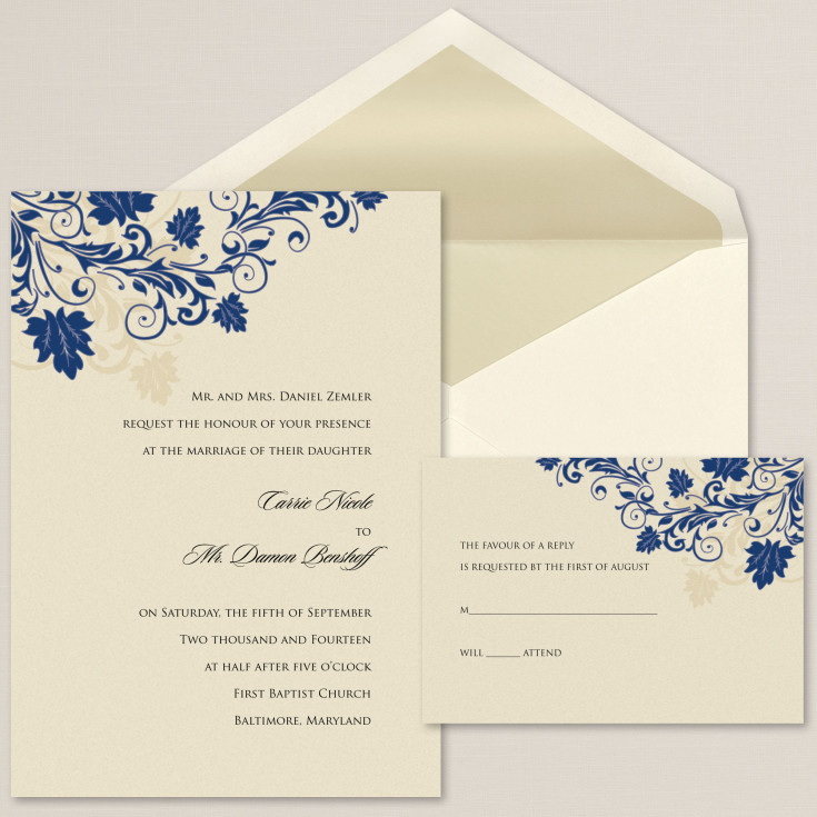 touch of glamour wedding invitation wedding invitation