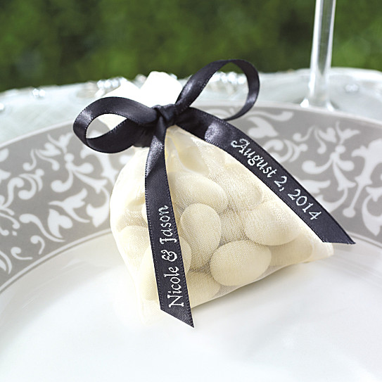Personalized Satin 24Color Ribbon Wedding Favor Supplies