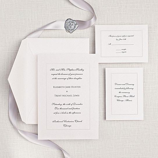 Manhattan Wedding Invitation Embossed Wedding Invitations