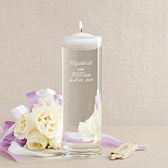 Floating Wedding Unity Candle And Vase